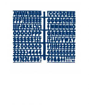 1360 – Blue 3/4″ Letter Kit (Carton of 10)