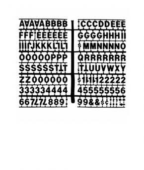 1363 – Black 3/4″ Letter Kit (Carton of 10)