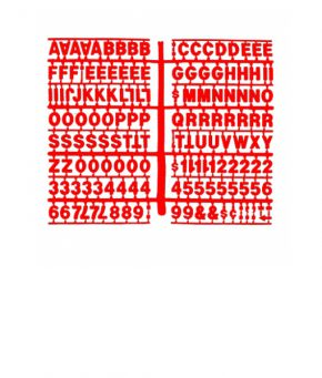1366 – Red 3/4″ Letter Kit (Carton of 10)