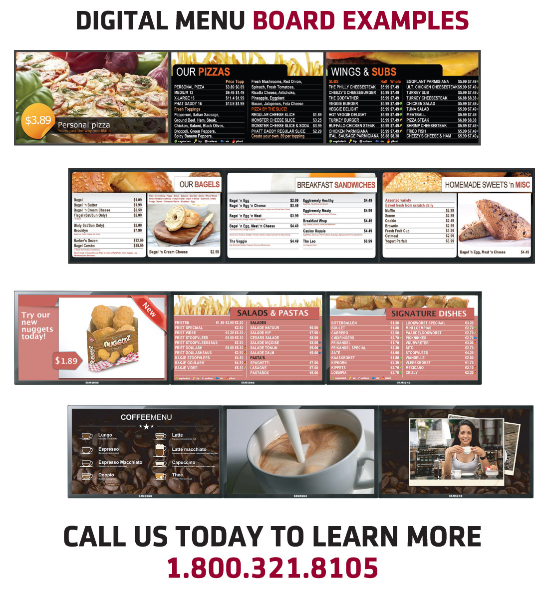 Digital Menu Boards with many customizable templates