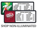 Shop Dr Pepper Non-Illuminated Menu Displays
