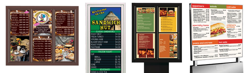 Custom Outdoor Menu Systems